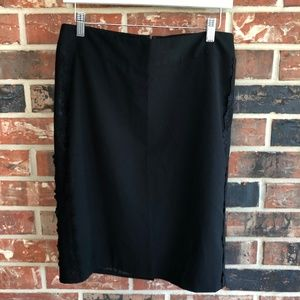 Mossimo Lace Embellished Pencil Skirt